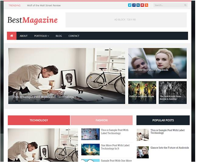 best magazine blogger template