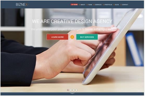 BizNex Business WordPress Theme
