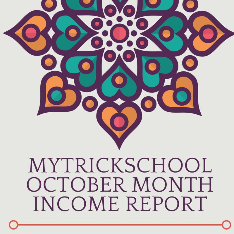 october month income report